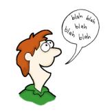 person talking