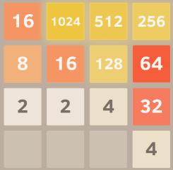 2048 puzzle board