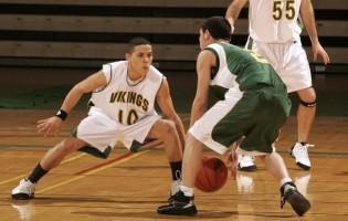 2 basketball players