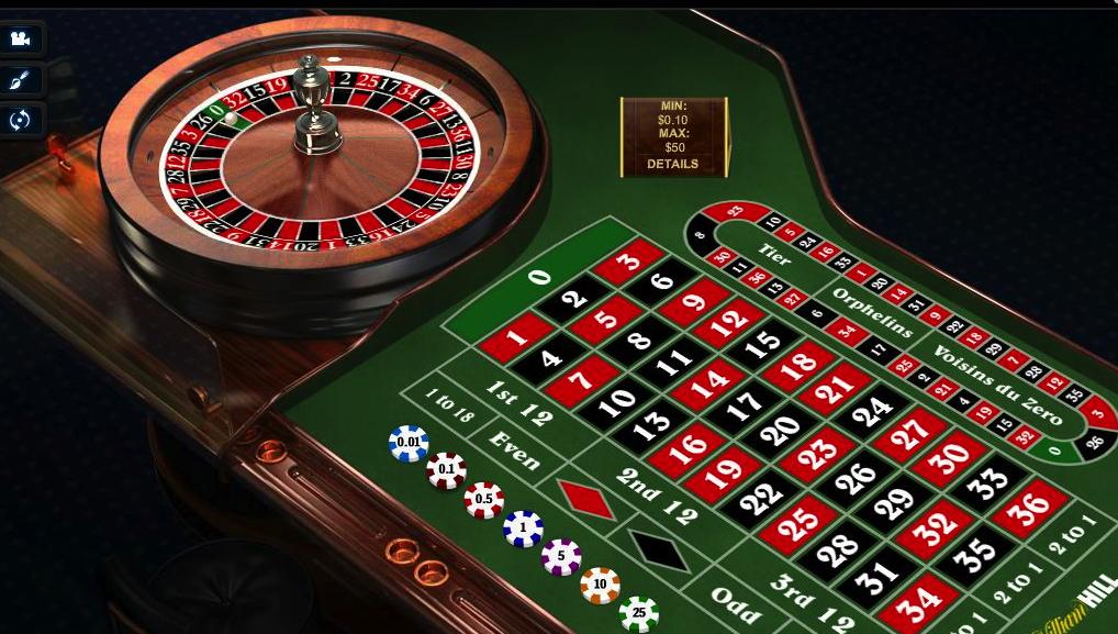 Online roulette table limits