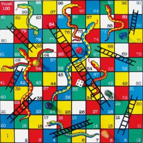 snakes-and-ladders board