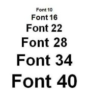 font-sizes