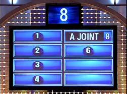 Family Feud game board showing joint answer