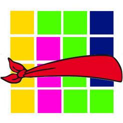 Blindfold Shape Puzzle Logo