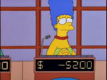 marge simpson playing game show