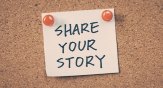 Share your story written on a post-it note