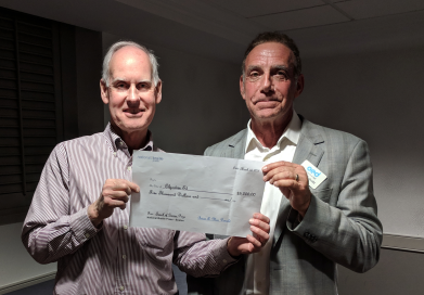 photo of Brian MacDonald of NBP and Marty Schultz of Objective Ed